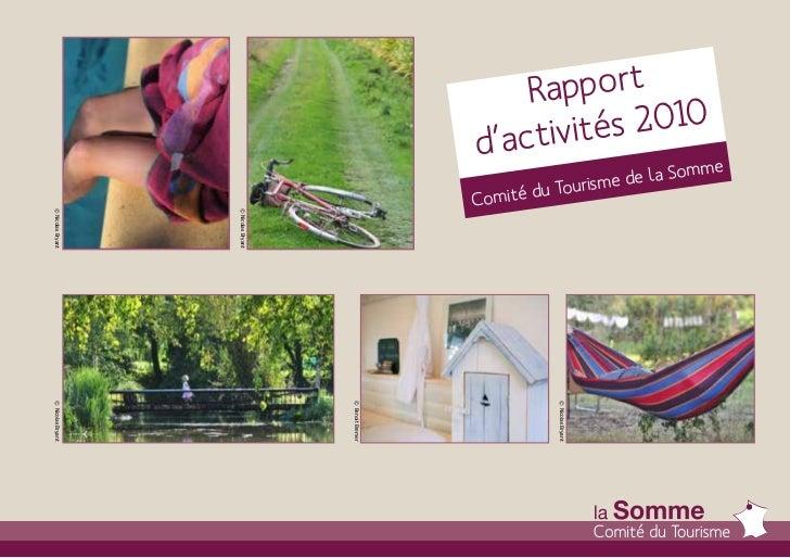 Rapport d'activités 2010 -  CDT Somme