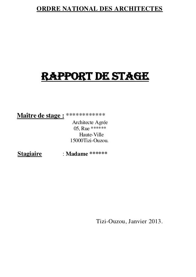Exemple rapport de stage pour le serment - Rapport de stage 3eme cabinet medical ...