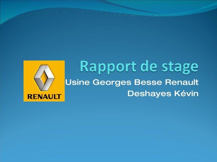 Usine Georges Besse Renault Deshayes Kévin
