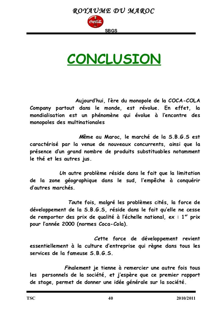 Related images to exemple de conclusion dun rapport de stage exemple