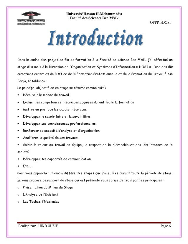 Casablanca information check out casablanca information - Rapport de stage en cuisine ...