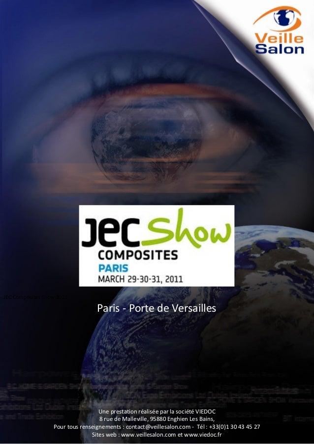 JEC Composites show Paris 2011 Intelligence Report