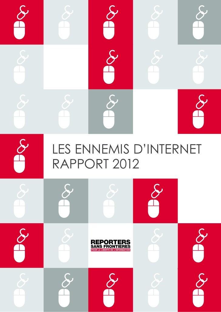 Les ennemis d'internetRAPPORT 2012