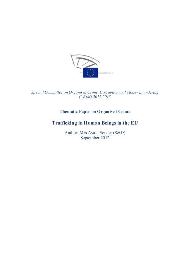 Rapport sur l'esclavage moderne en Europe
