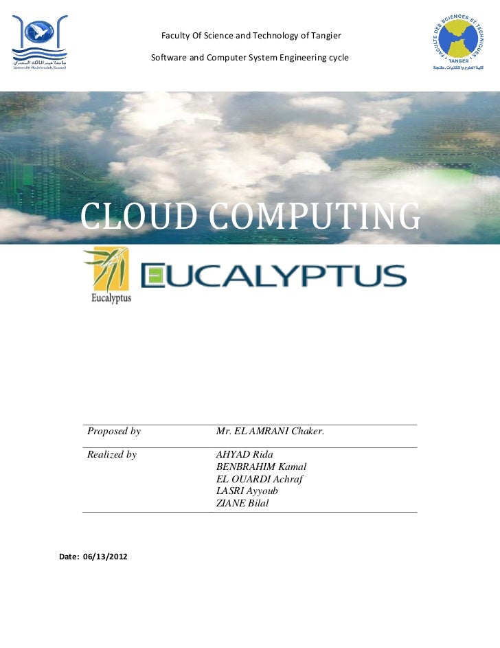 Faculty Of Science and Technology of Tangier                    Software and Computer System Engineering cycle    CLOUD CO...