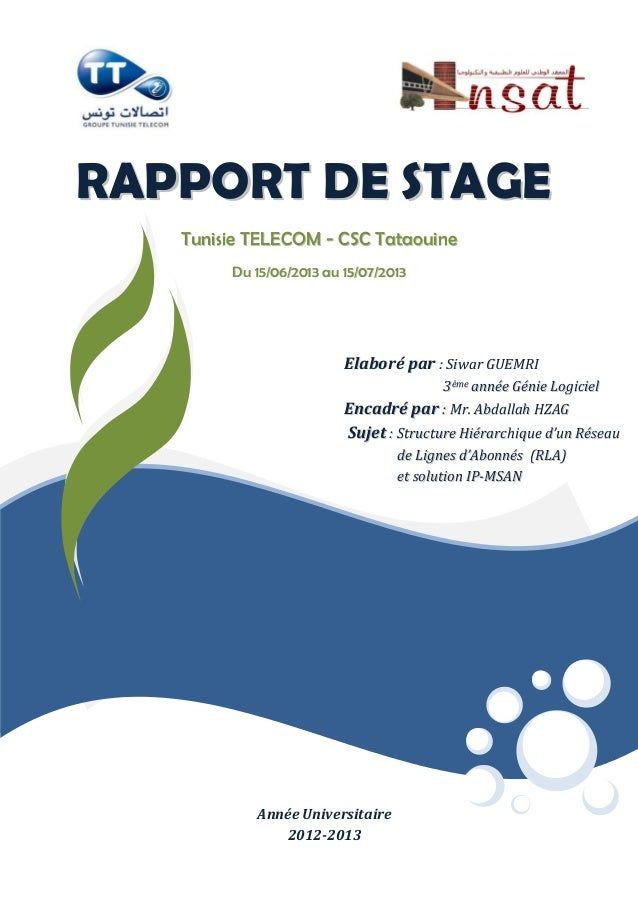 Rapport stage IP-MSAN Tunisie télécom
