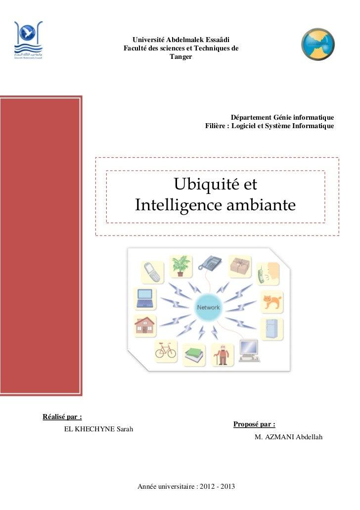 Ubiquité et intelligence ambiante