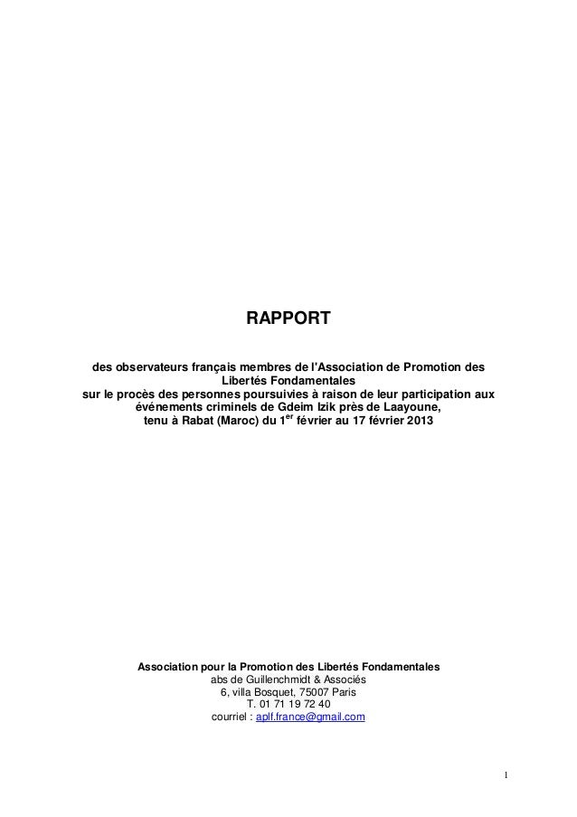 Rapport global des observateurs français 1 17 février 2013