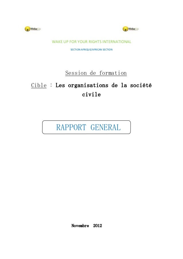 Rapport général session de formation   copy