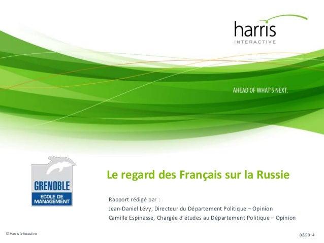 Rapport : Le regard des Français sur la Russie