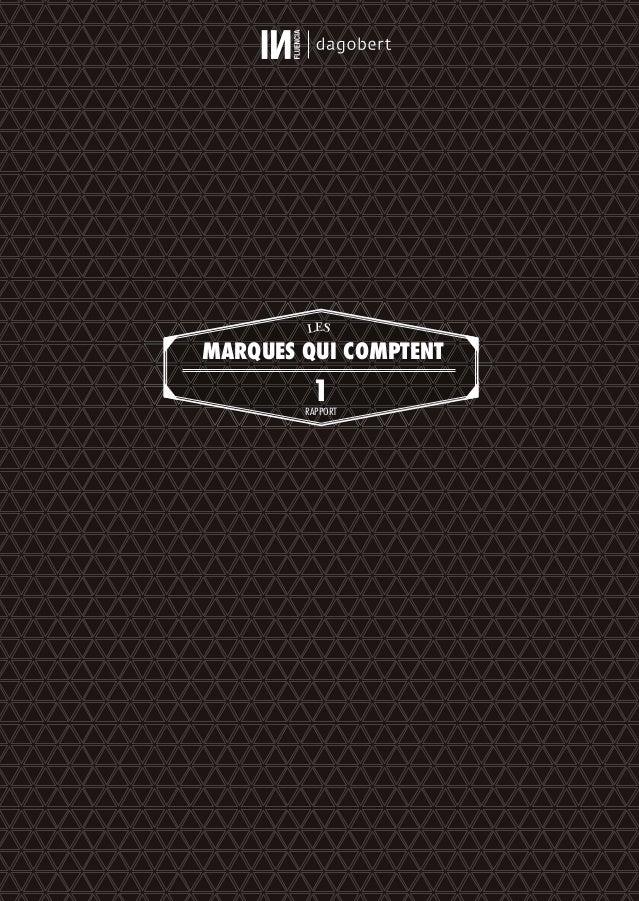 LES MARQUES QUI COMPTENT 1RAPPORT 01_RAPPORT OK.indd I01_RAPPORT OK.indd I 10/10/14 16:2810/10/14 16:28