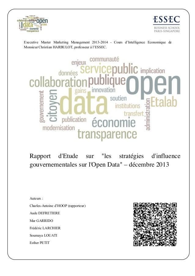 Rapport intelligence economique   open data - linkedin