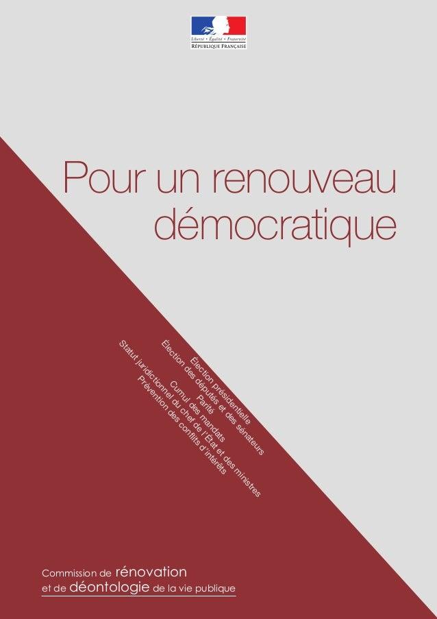 Pour un renouveau     démocratique                             en s                                           id de       ...