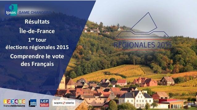 Résultats Île-de-France 1er tour élections régionales 2015 Comprendre le vote des Français