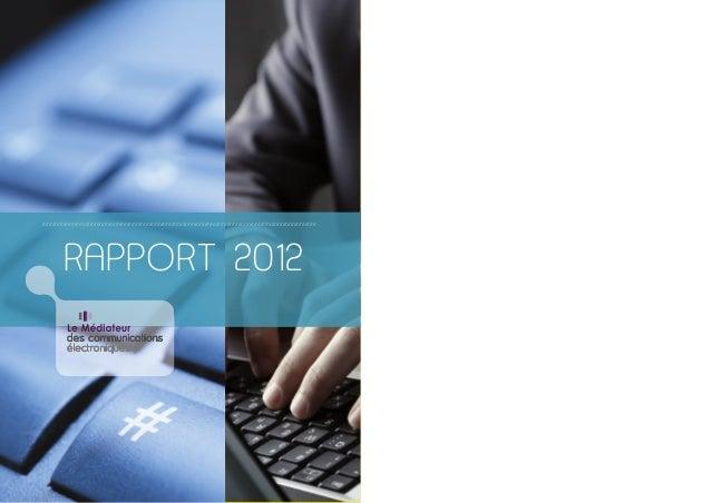 Rapport du Médiateur des communications électroniques