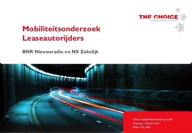 Rapport Mobiliteitsonderzoek Leaseautorijders