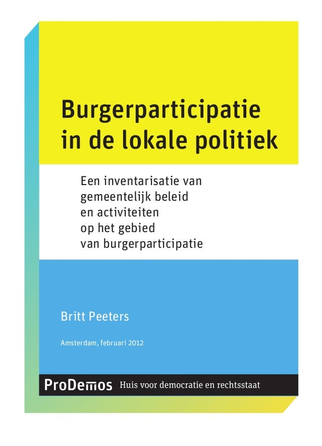Rapport monitor burgerparticipatie 2012