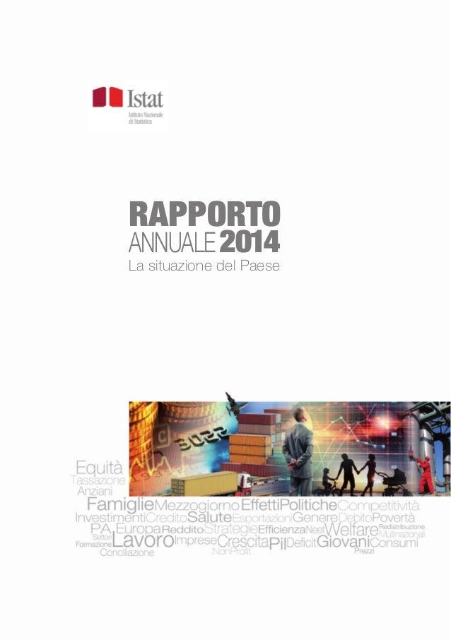 Rapporto annuale Istat - 2014
