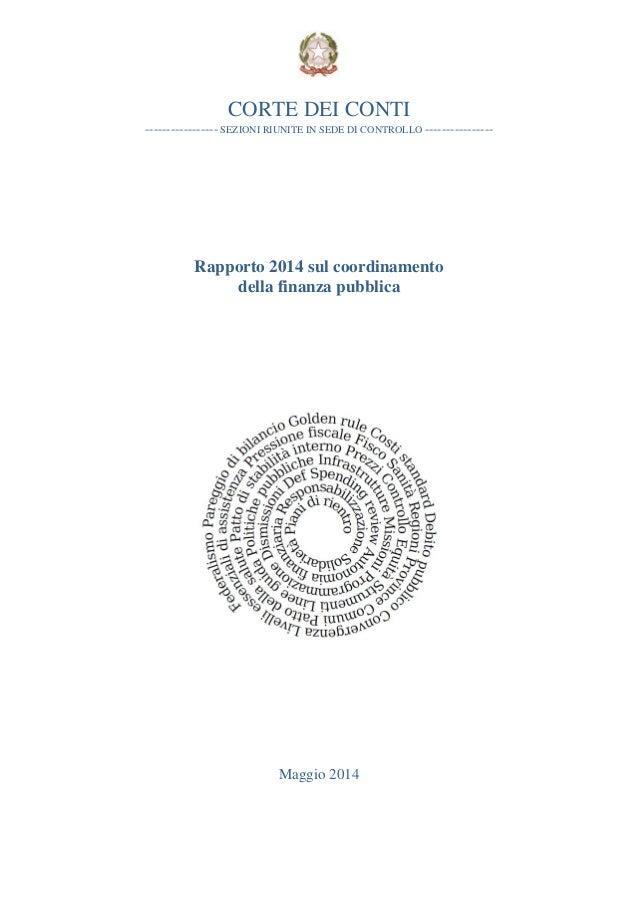 Corte Conti Rapporto 2014 coordinamento_finanza_pubblica
