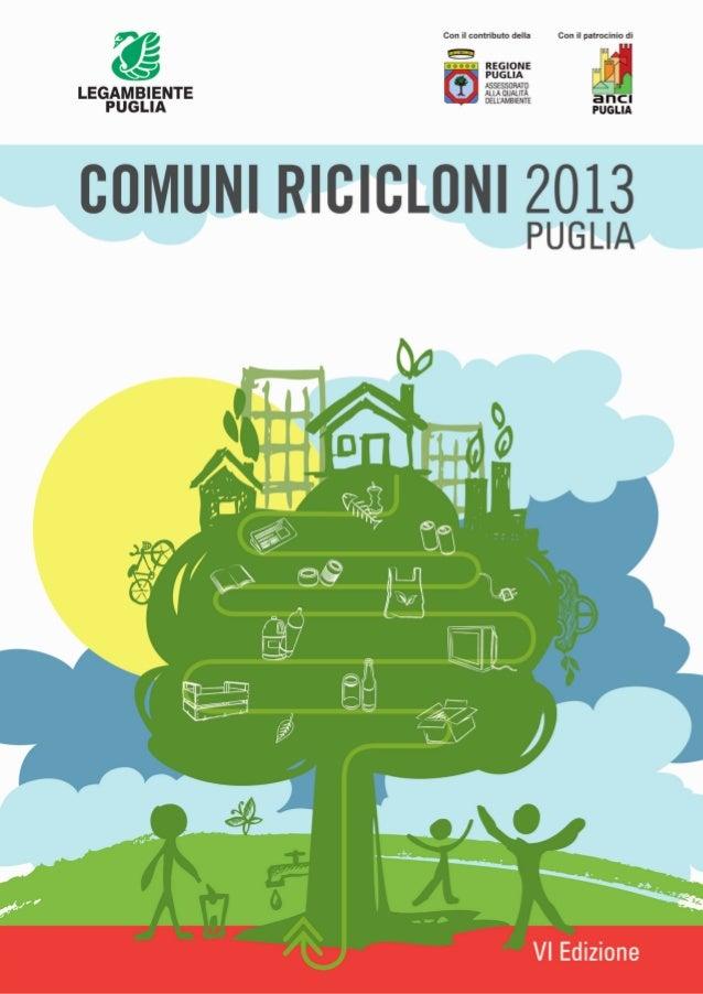 Rapporto comuni ricicloni Puglia 2013