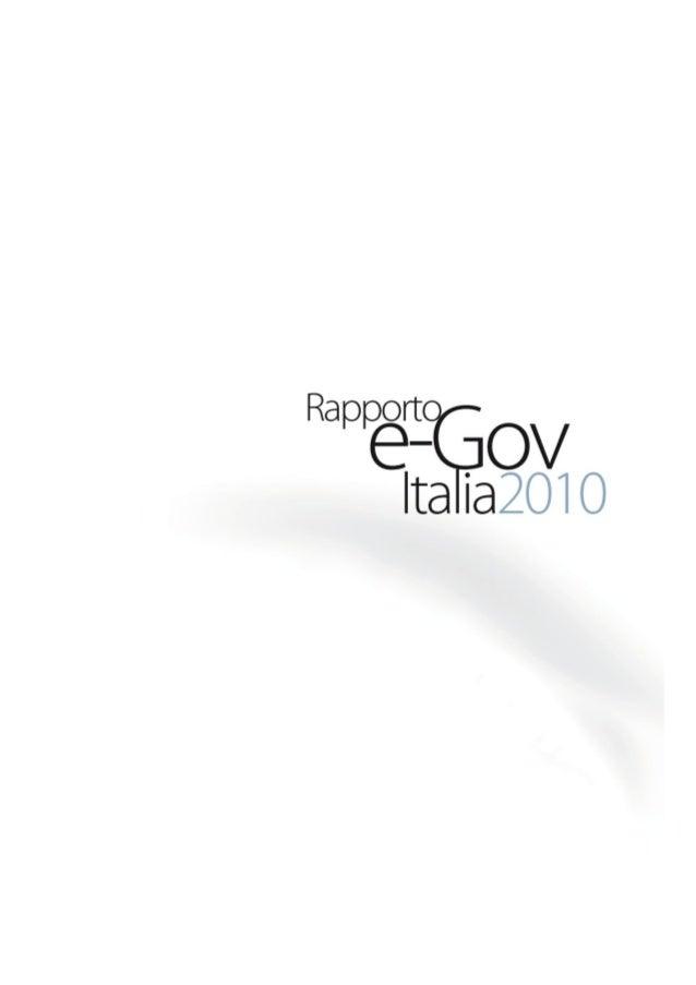 Rapporto e gov italia 19dic2010