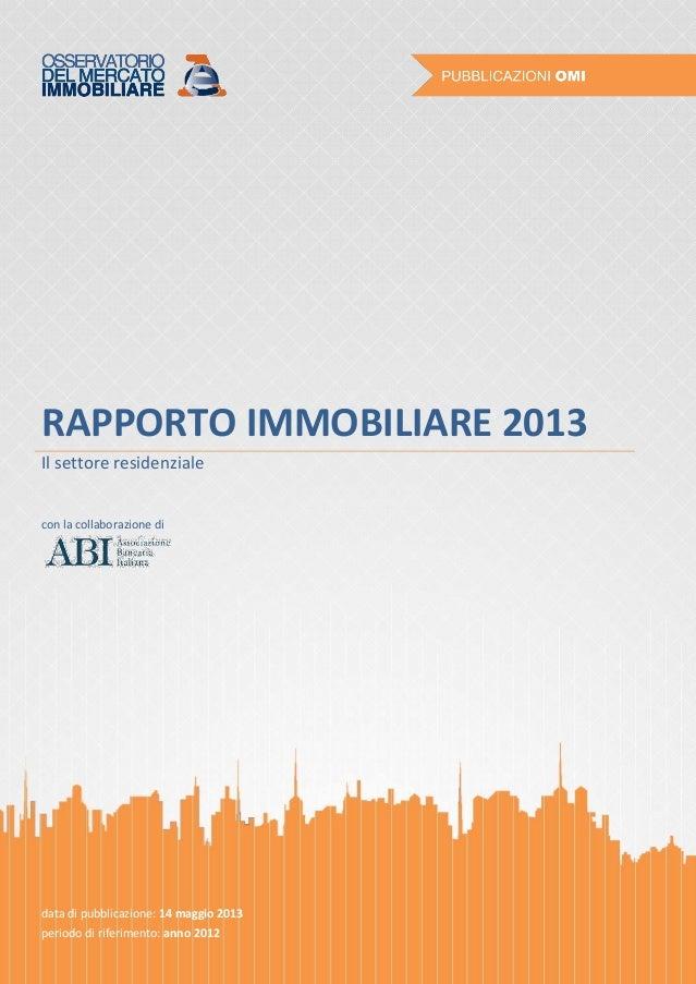 Rapporto immobiliare 2013