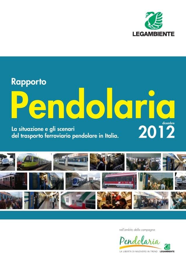 Rapporto Pendolaria 2012 cop.