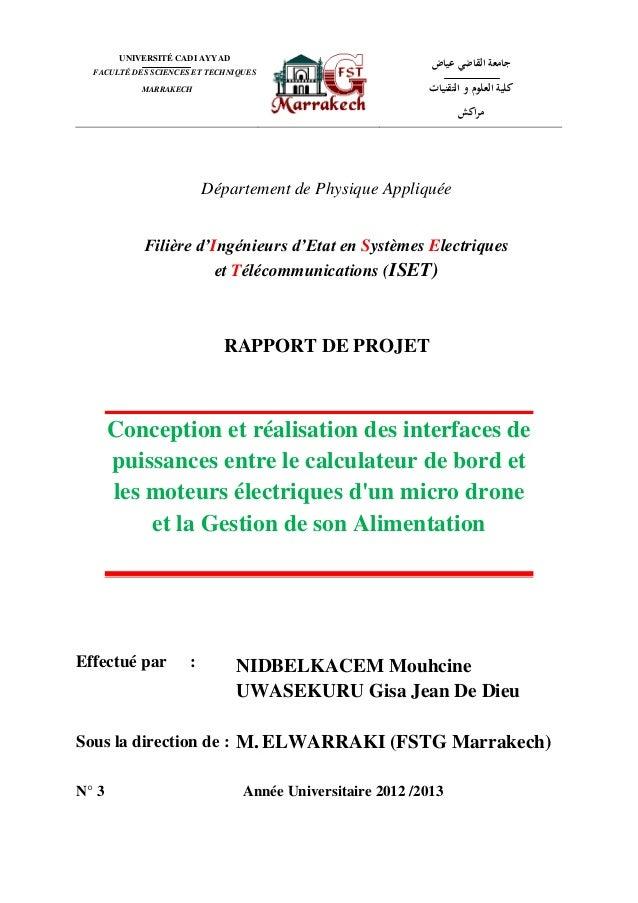 Gestion de la batterie d'un micro-drone projet fin d'année NIDBELKACEM Mouhcine_rapport