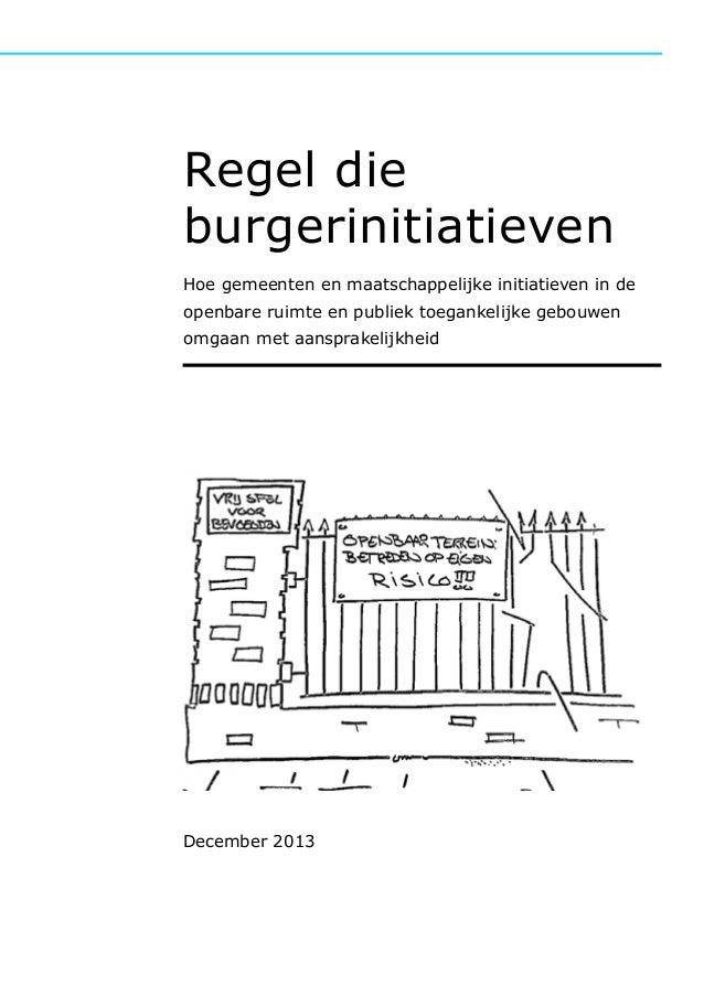 Rapport regel die burgerinitiatieven   december 2013 kl