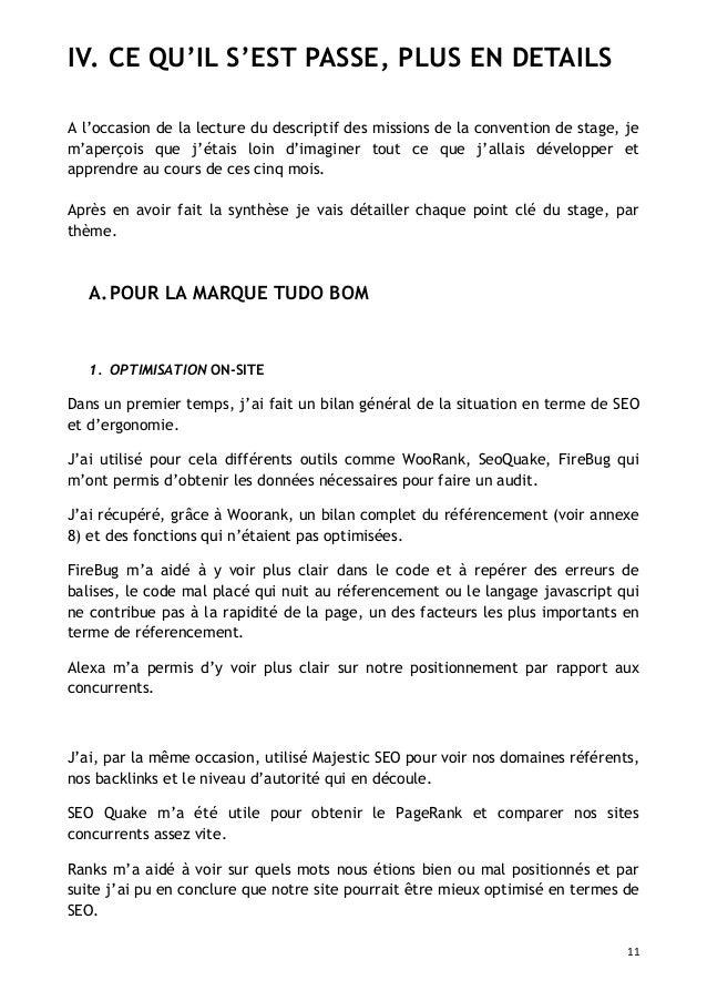 Exemple de rapport de stage vente pret a porter document - Rapport de stage vendeuse pret a porter ...