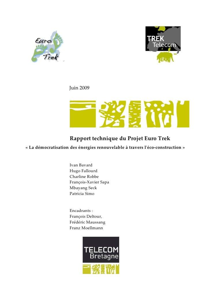 Rapport Technique Euro Trek