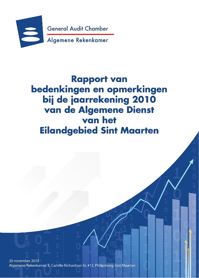 General Audit Chamber Report on the 2010 financial statements of  St Maarten to Parliament