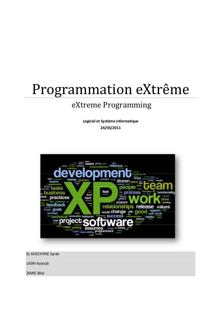 Rapport exposé eXtreme Programming XP