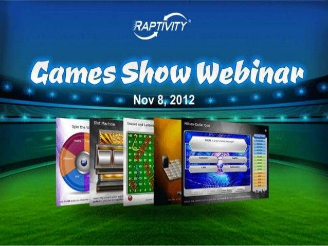 Raptivity Games Show Webinar