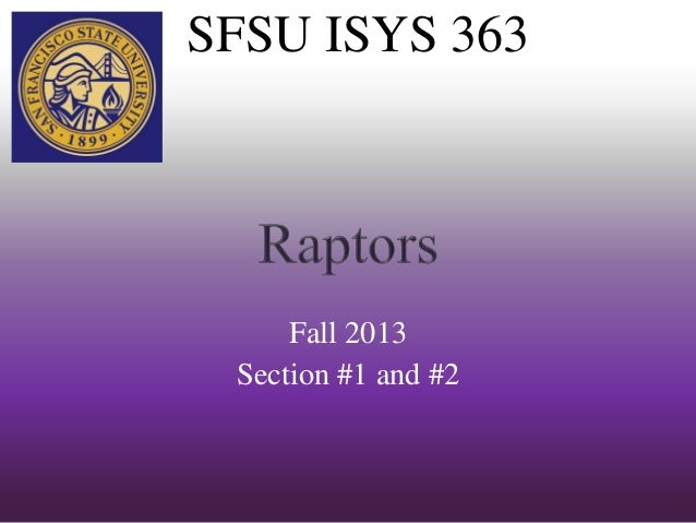 SFSU ISYS 363 Fall 2013 Section #1 and #2