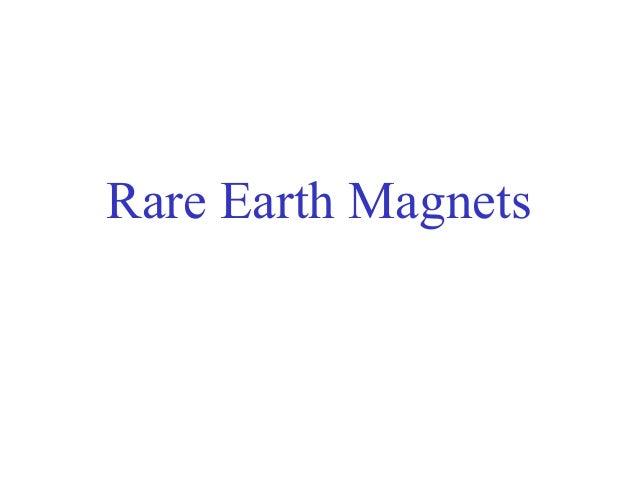 Rare earth-magnets