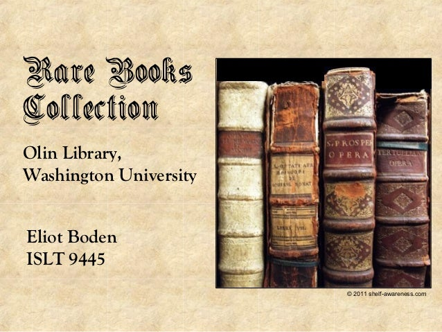 Rare Books Collection at Washington University