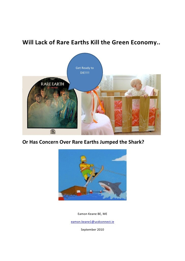 Will Lack of Rare Earths Kill the Green Economy..                        Get Ready to                         DIE!!!!     ...