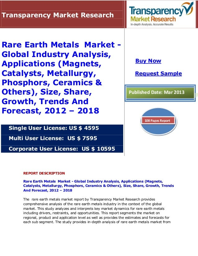Transparency Market ResearchRare Earth Metals Market -Global Industry Analysis,                                           ...