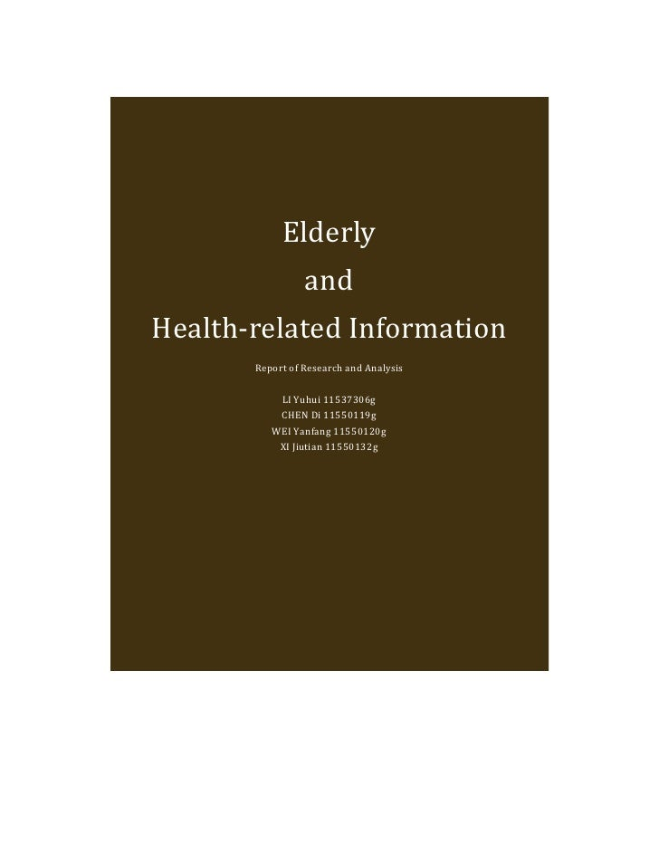 Research & Analysis Report for Elderly and Health-related Information