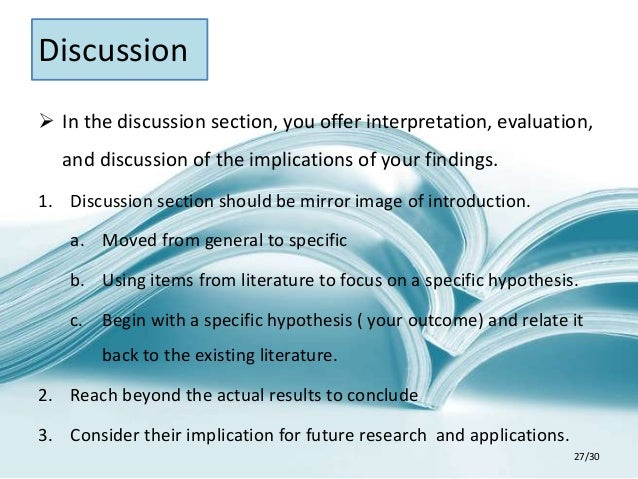 write discussion section research paper apa style Apa title page, abstract, and discussion: the final push  research paper must be in apa  why write a discussion section.