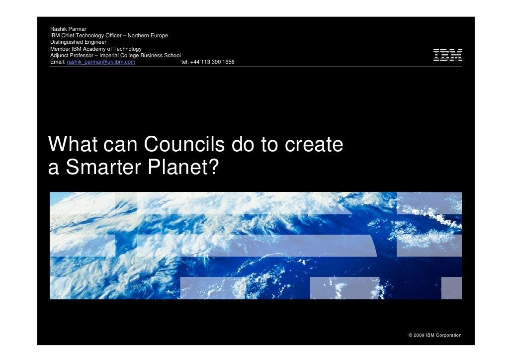 Rashik Parmar Ibm Smarter Planet