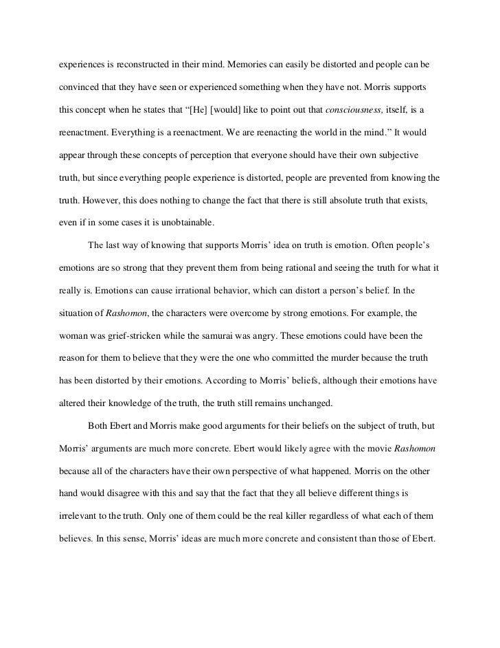 rashomon essay rashomon essay rashomon essay rashomon essay rashomon essay experiences