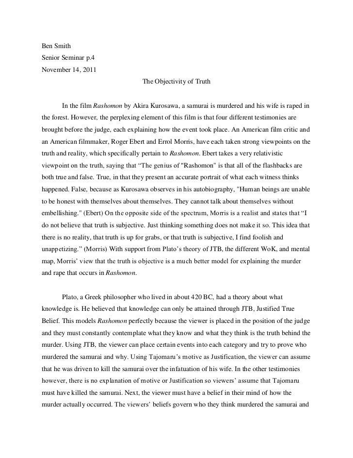 essay on rashomon