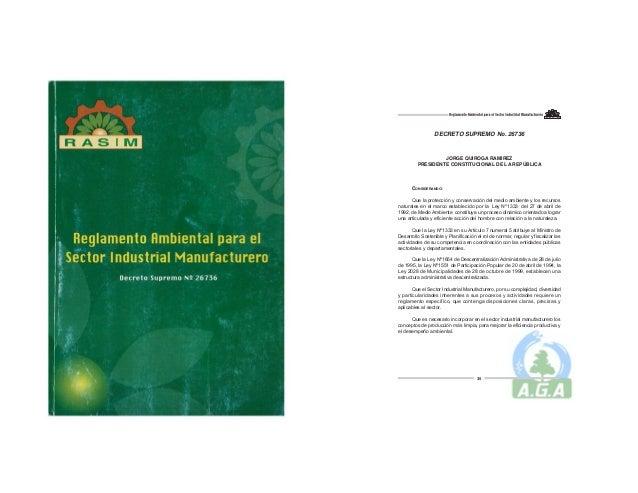 Reglamento Ambiental para el Sector Industrial Manufacturero RASIM