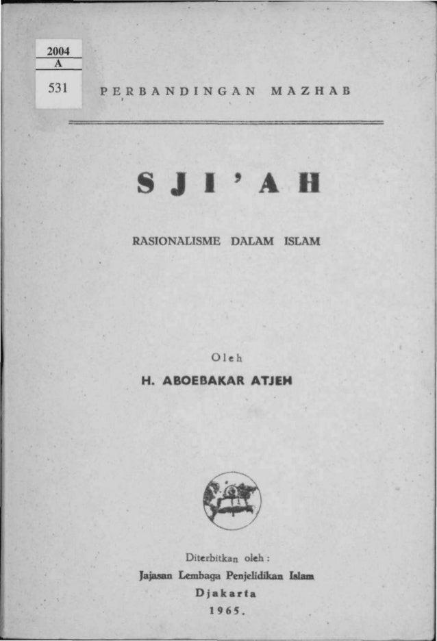 P E R B A N D I N G A N             M A Z H A B     S J I  A H     RASIONALISME       DALAM        ISLAM                  ...