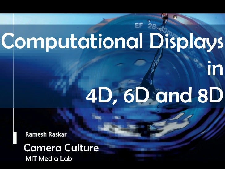 Raskar Keynote at Stereoscopic Display Jan 2011