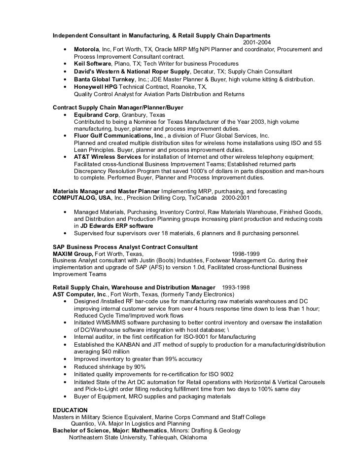 Process Improvement Resume