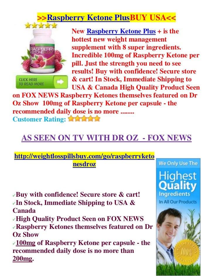 Raspberry Ketones Plus USA - As Seen on TV