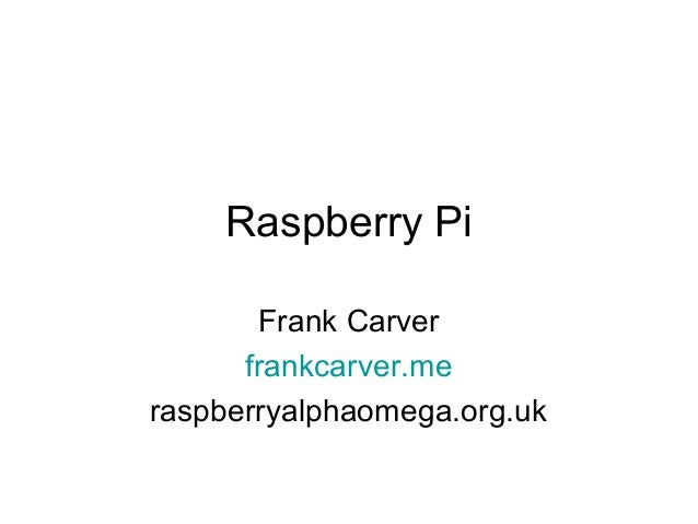 Raspberry Pi for IPRUG